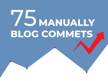 I will do 75 blog comments backlinks DA 30plus