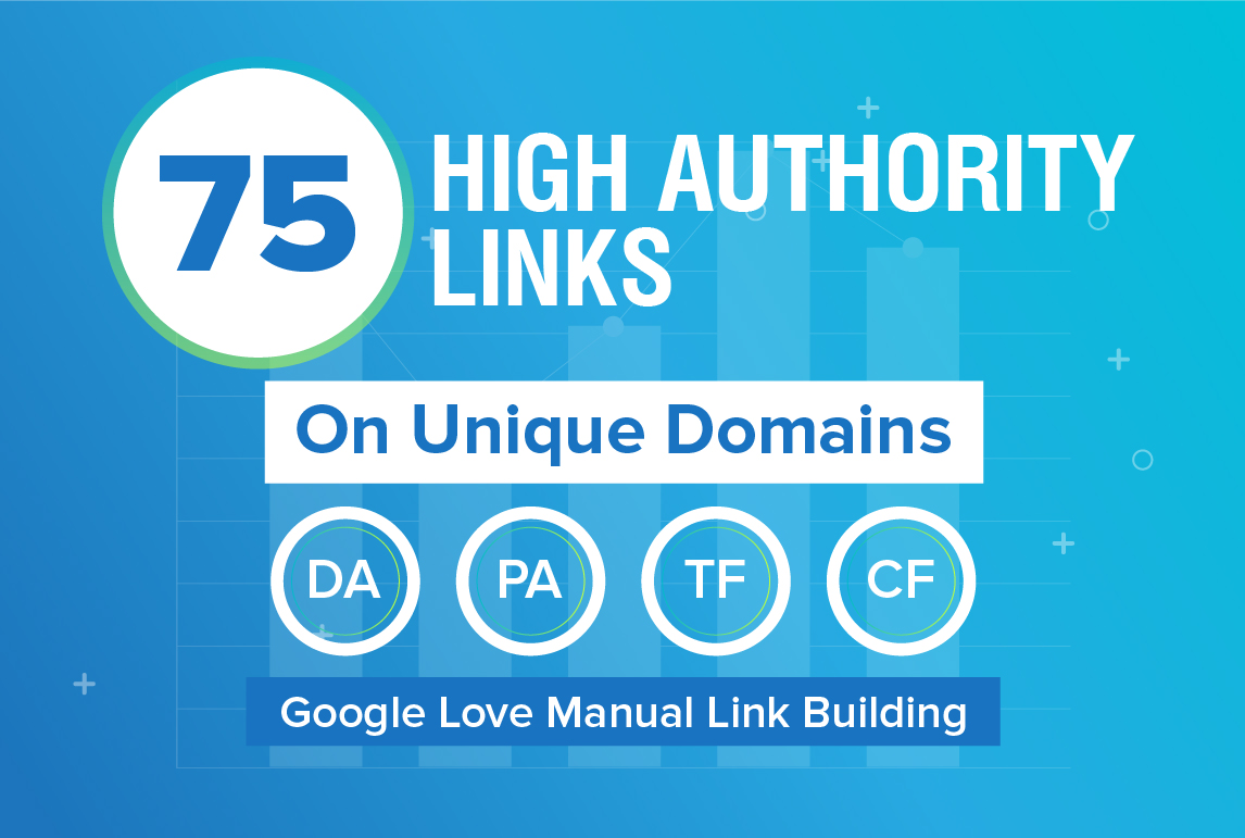 I will do 75 unique domain SEO backlinks on da100 tf100 sites
