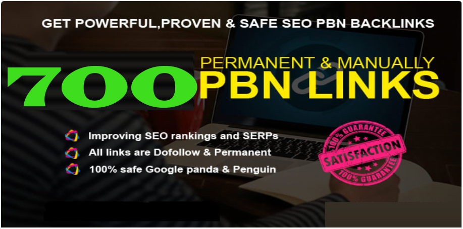 Get Extream 700+ PBN Backlink in your website hompage with HIGH DA/PA/TF/CF with unique website
