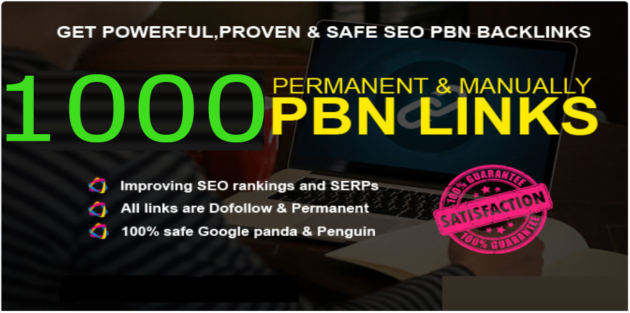 Get Extream 1000+ PBN Backlink in your website with HIGH DA/PA/TF/CF with unique website