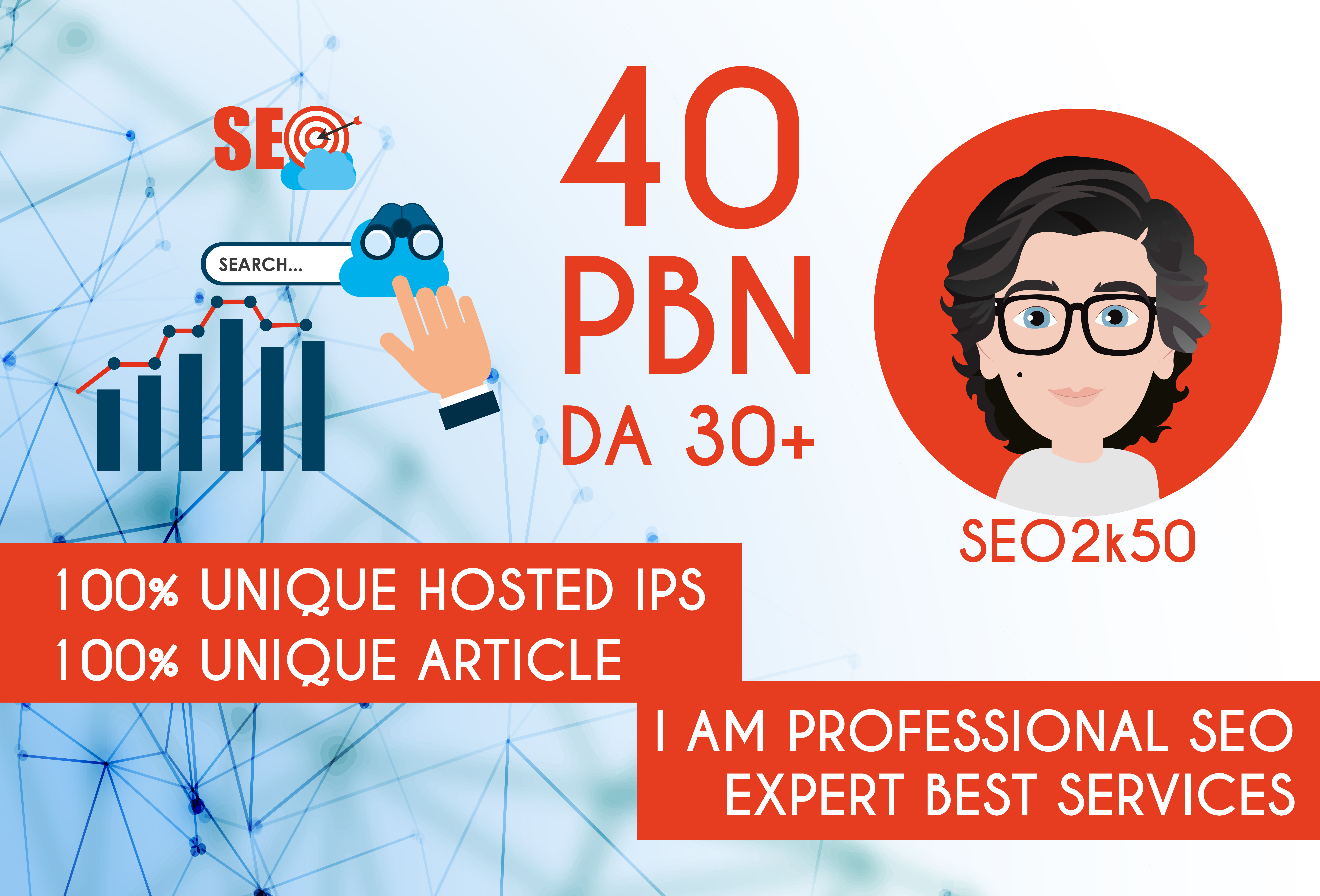 Build 40 PBN DA PA 30+ All Home Page high quality PBN Backlinks