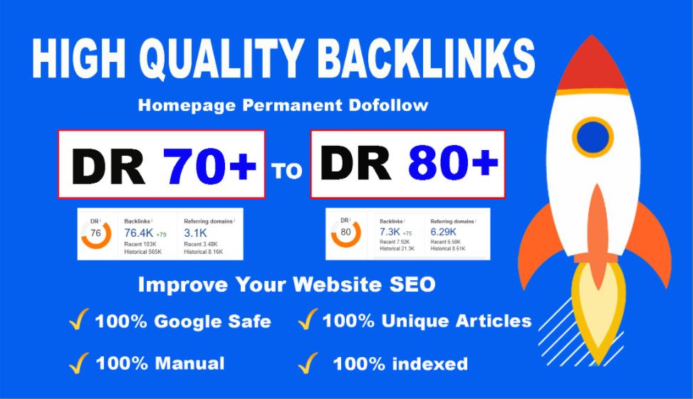 Bluild 10 PBN DR 70+80 high quality homepage dofollow backlinks