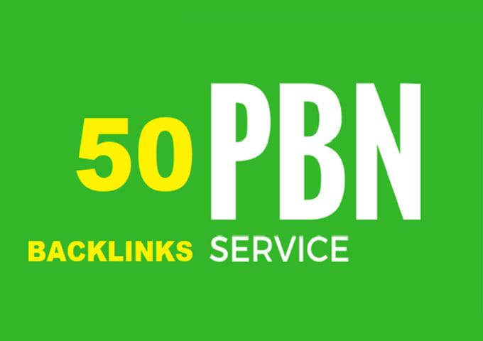 I will provide 50 homepage PBN backlinks DA 25 +