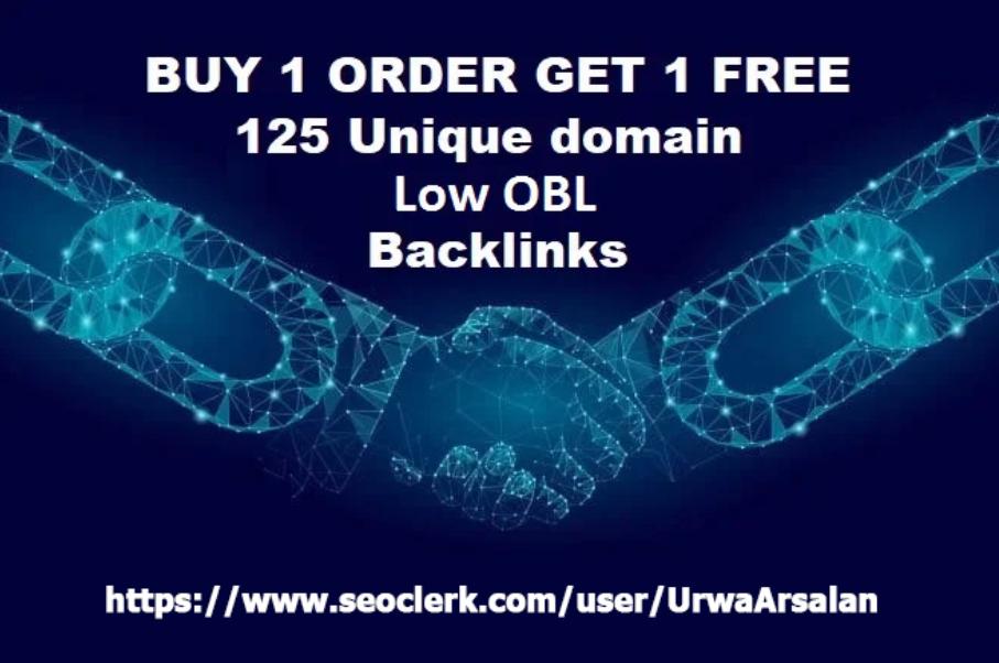 Get 125 Unique Low OBL Blog Comment Dofollow Backlinks On DA 30 to 90