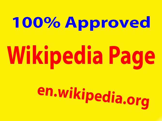 I can create approved Wikipedia page
