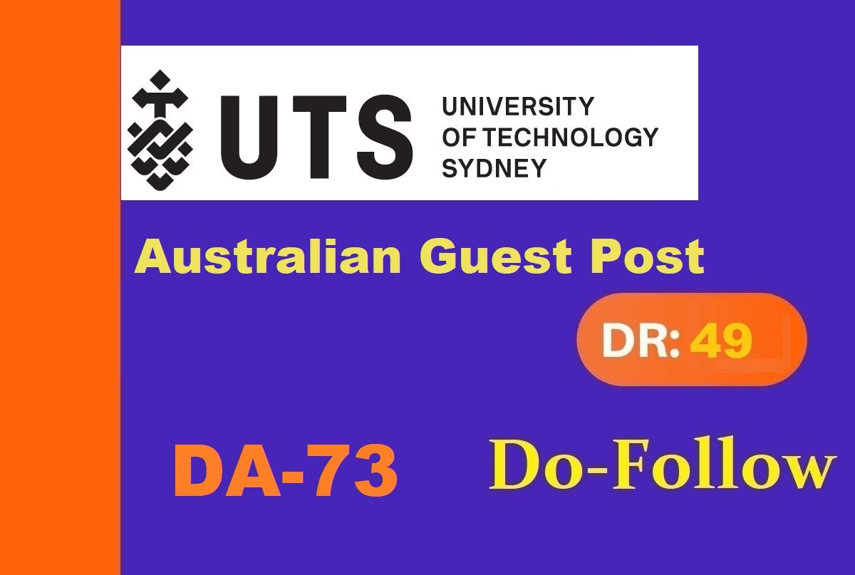 I will publish Australian university guest post on uts edu DA72 with dofollow link