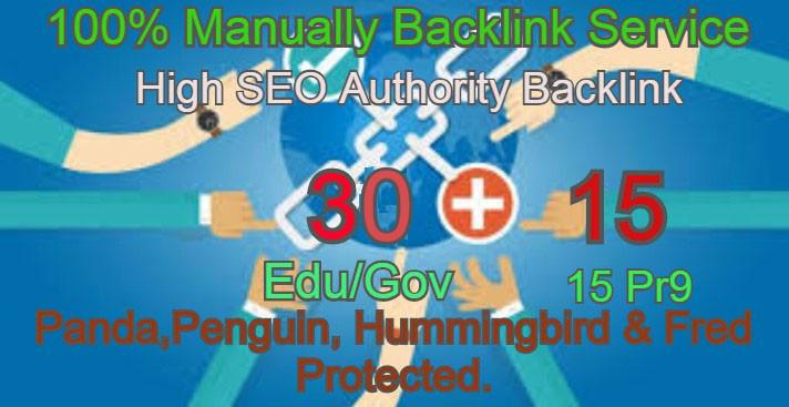 I Will Manually do 30 Edu/Guv + 15 Pr9 High DA PA Seo Profile Backlink- Skyroket your Google ranking