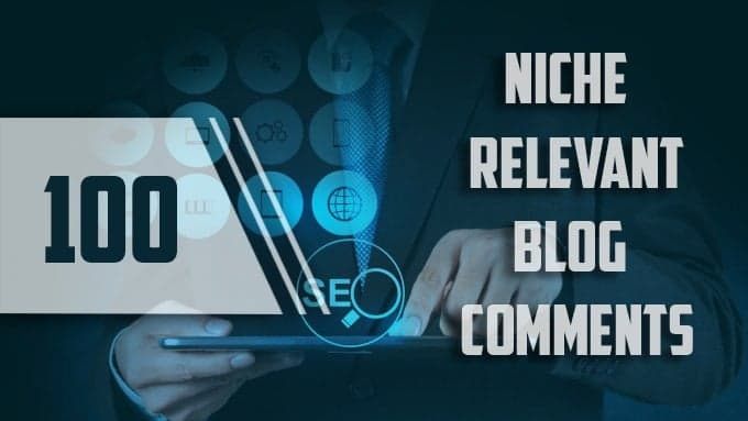 I will do 100 niche relevent blog comment backlink in high da pa