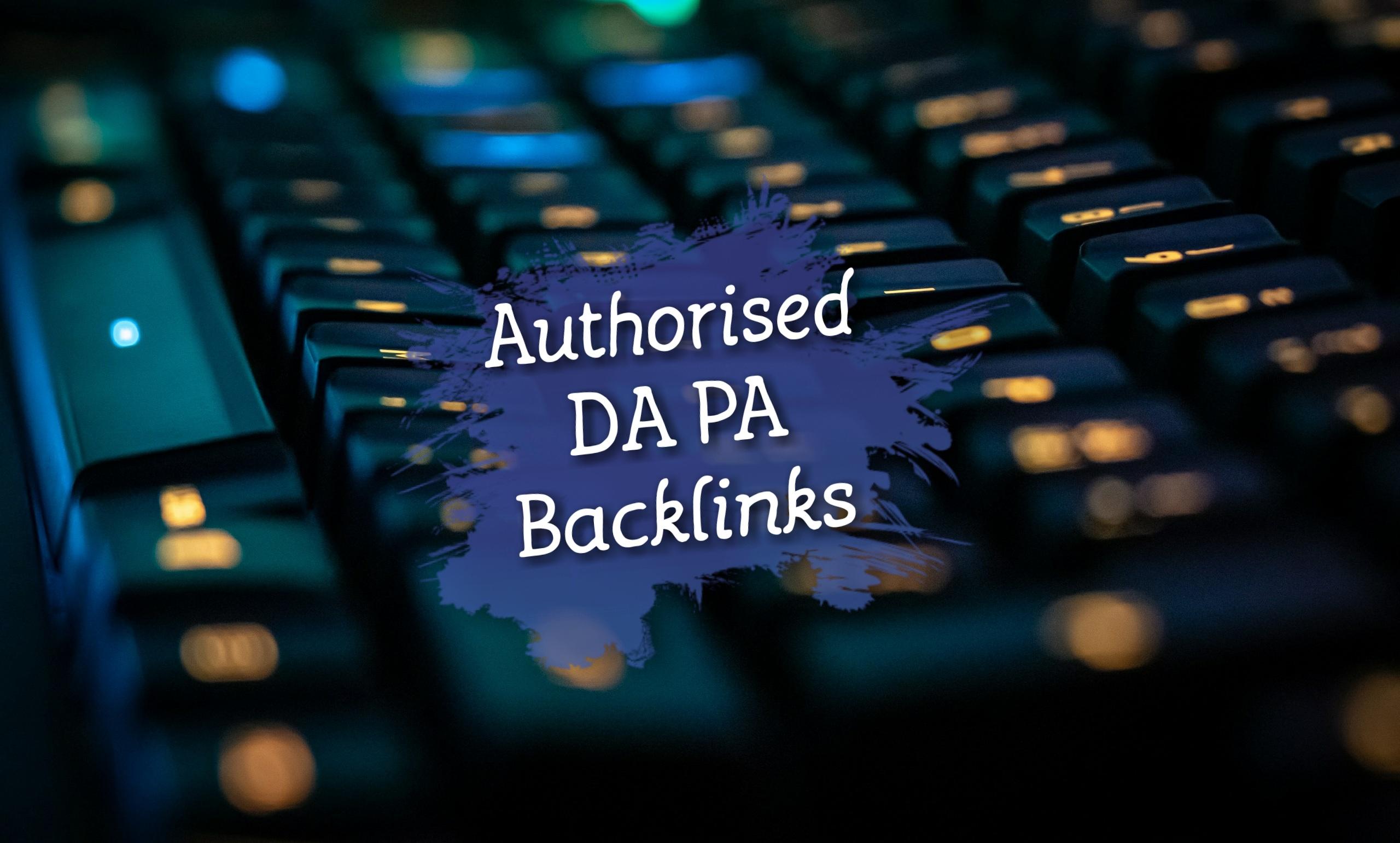 Best Authorized Backlinks with High DA PA