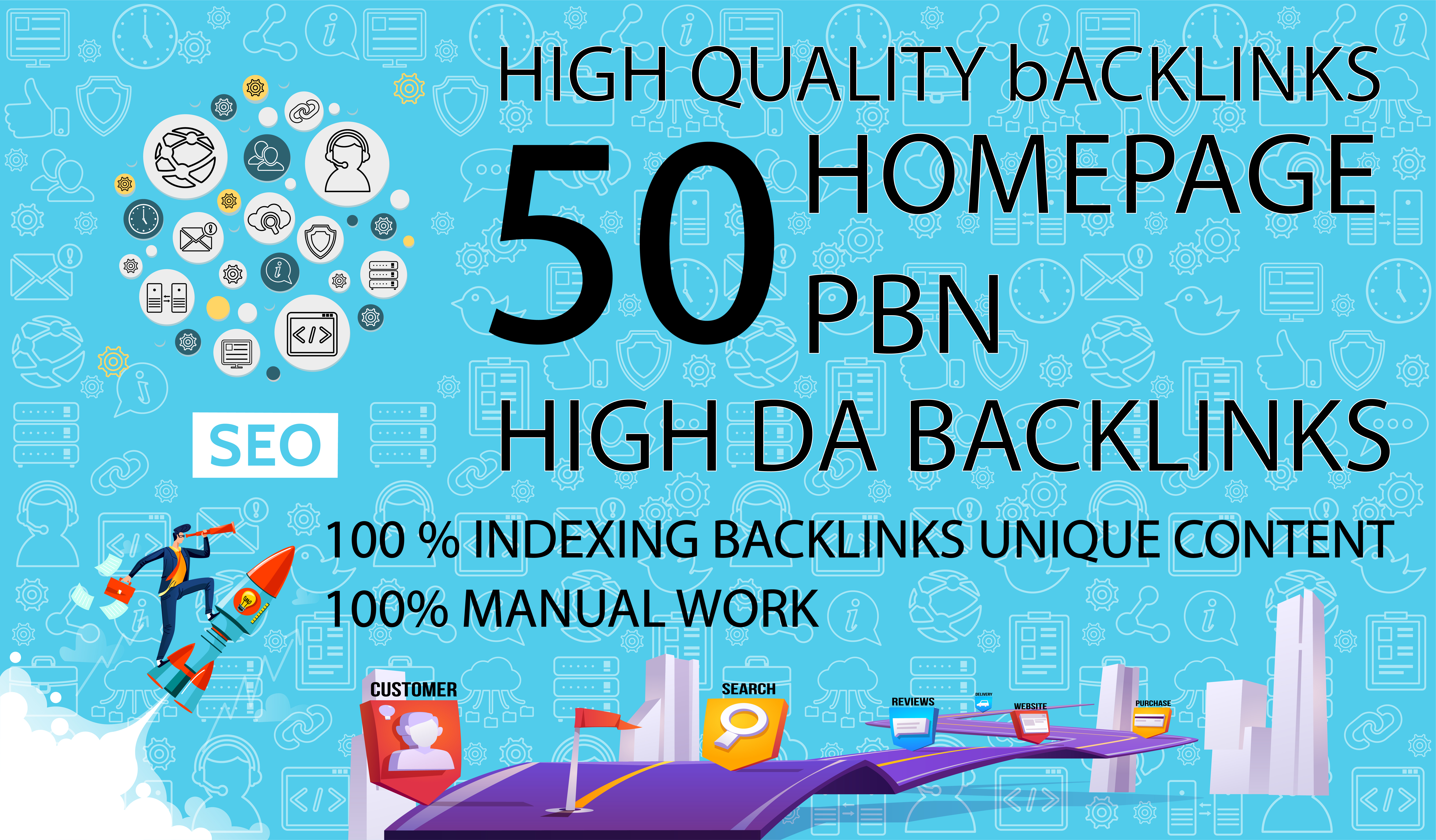 Get 50 Dofollow Homepage PBN Backlinks On High DA PA