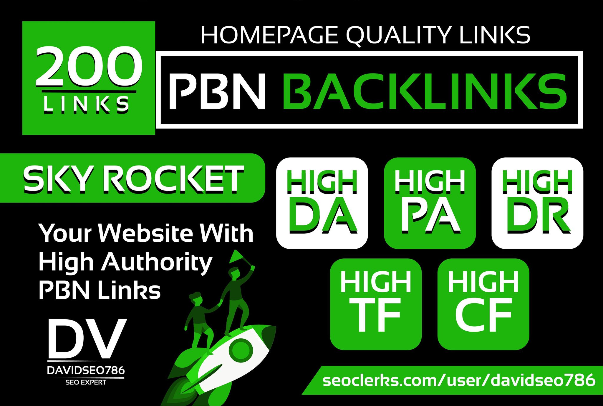 I Will Do 200 PBN High Quality Homepage PBN Backlinks in High DA