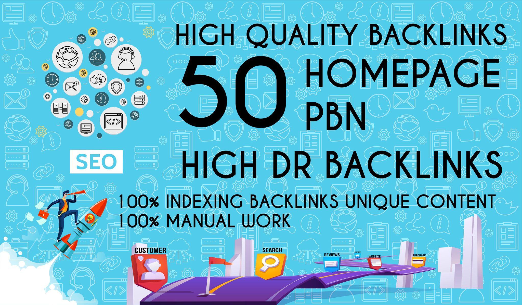 Get 50 Dofollow Homepage PBN Backlinks On High DA 25+