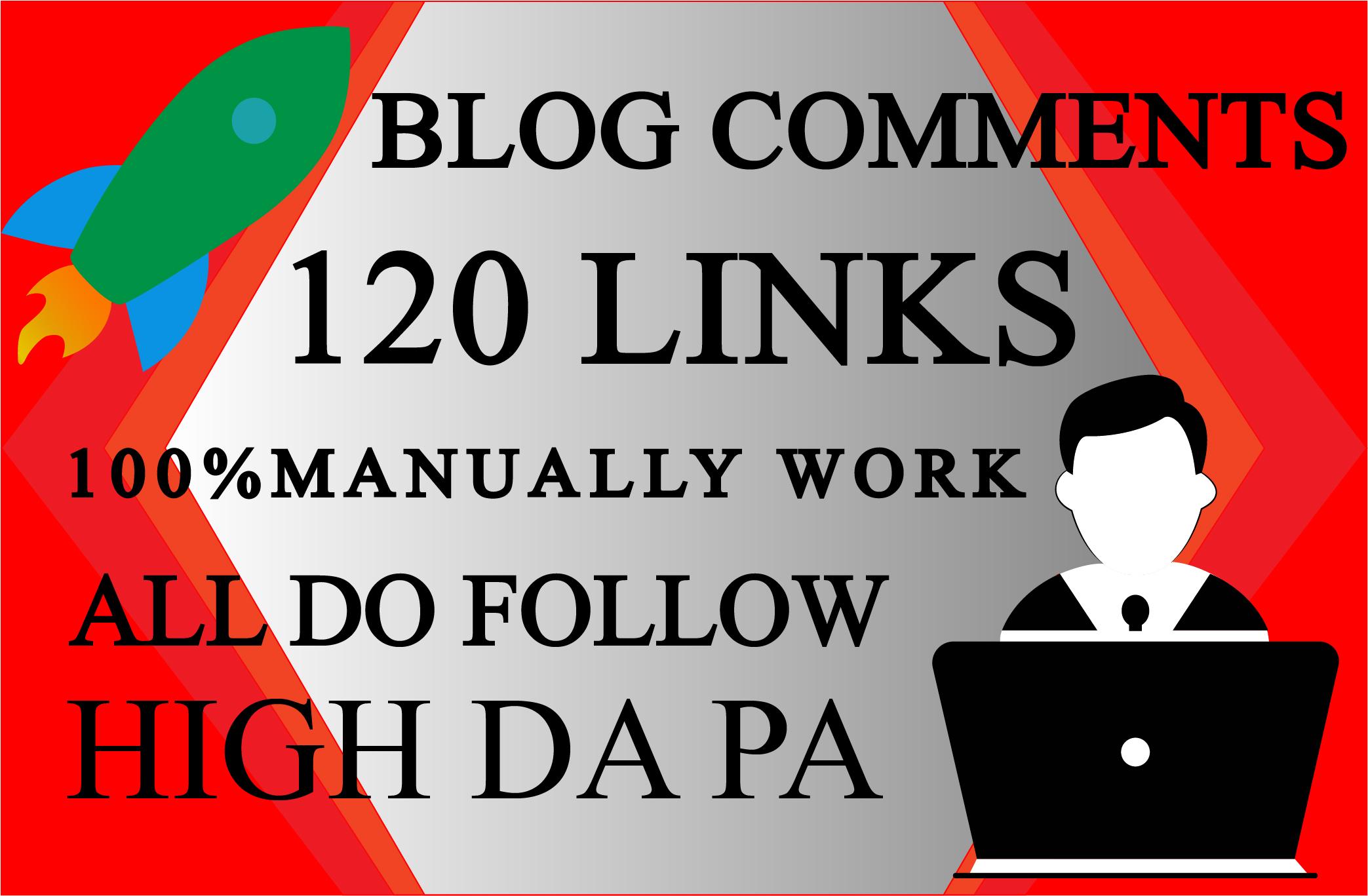 I will do 120 dofollow blog comment backlinks