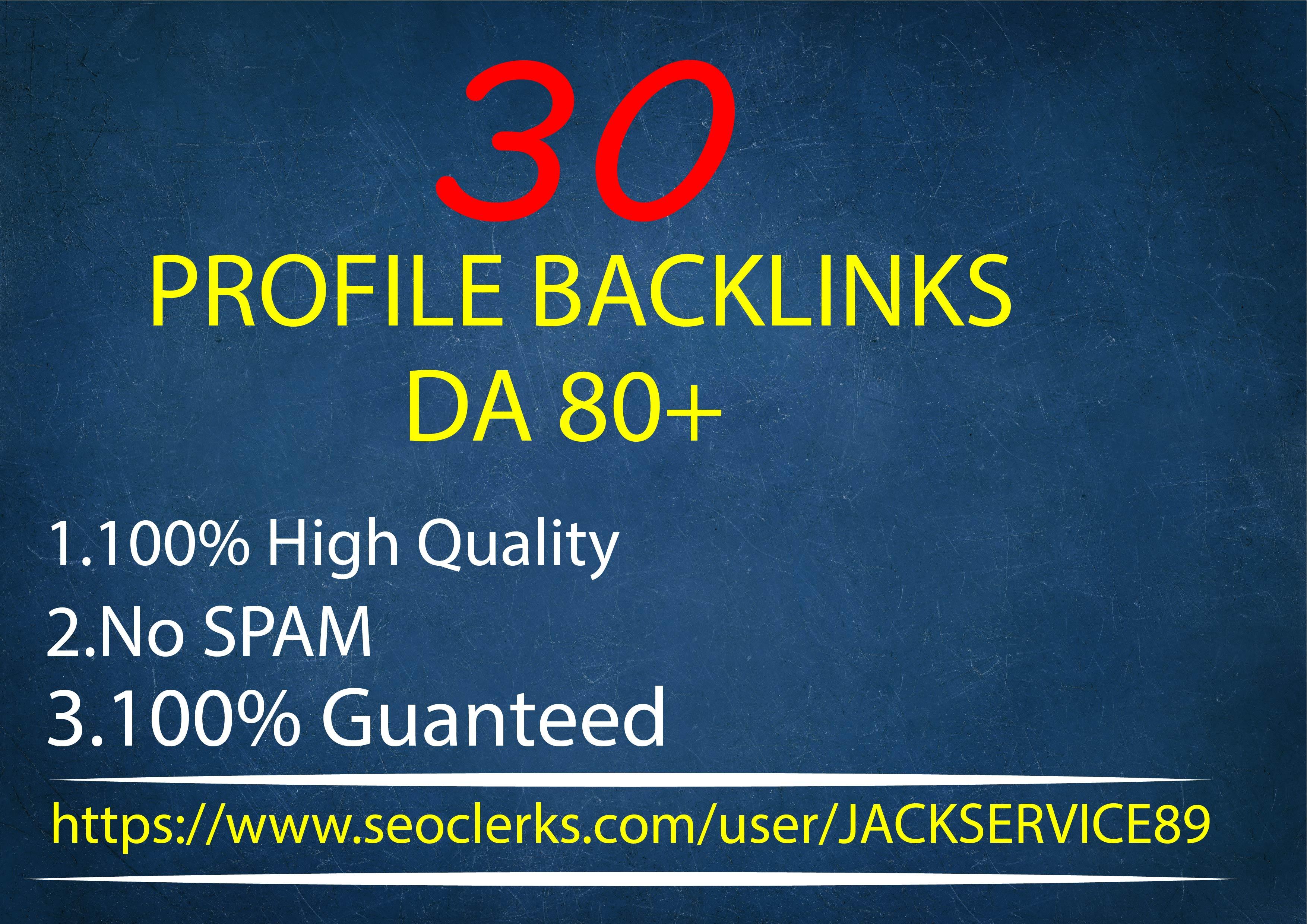 I will do 30 high da profile backlinks manually for SEO ranking