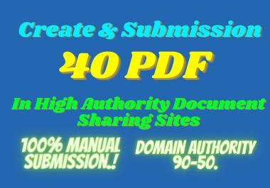 I will create and publish 40 PDF in high DA PA websites