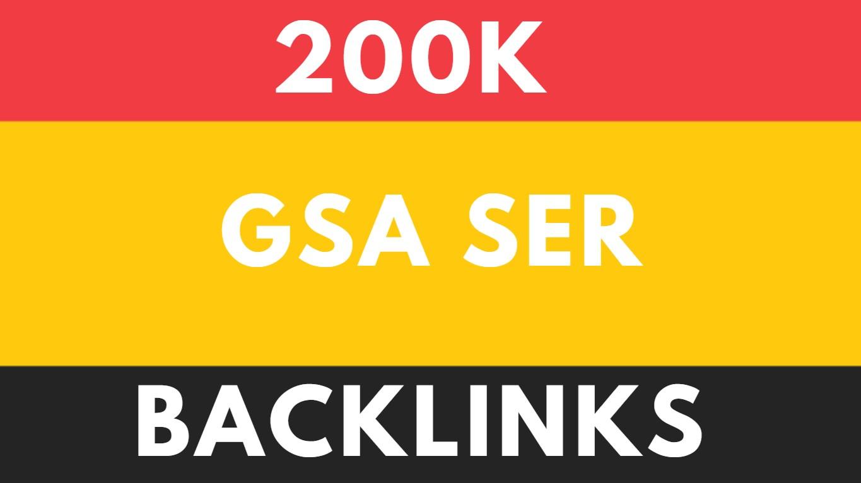 200K GSA SER Genuine and Unique Backlinks for SEO Service