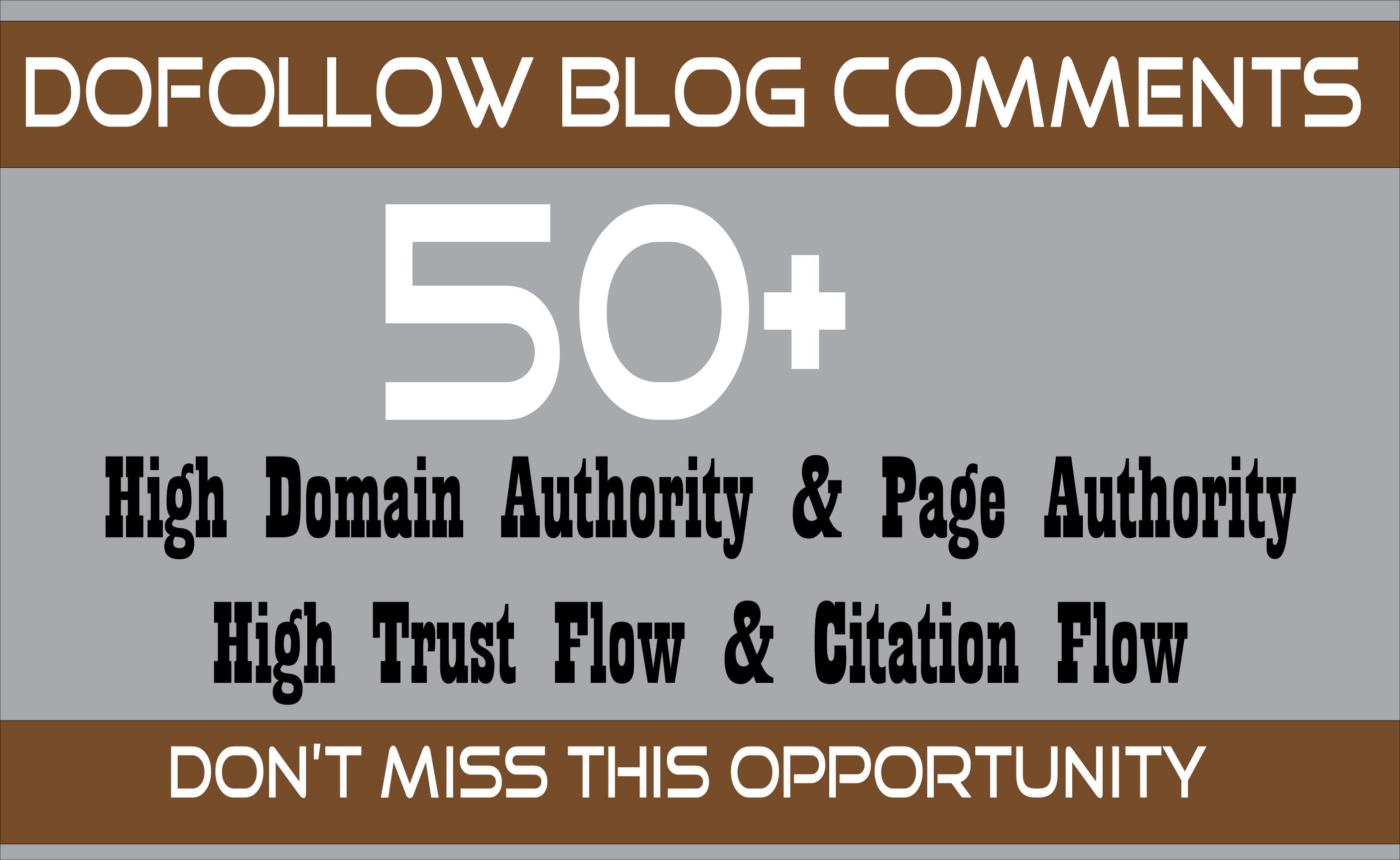 I will create 50 manual dofollow backlinks DA 40 PLUS