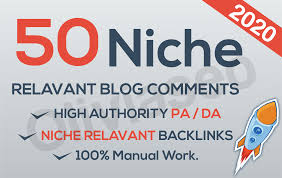 I will do 50 niche relavant blogcomments