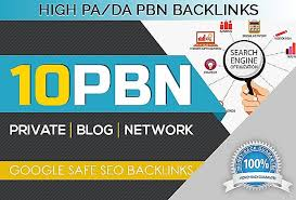 I will build 10 permanent homepage pbn backlinks with da 25 plus