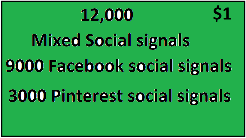 12,000+ Top 2 Platform Mixed Social Signals