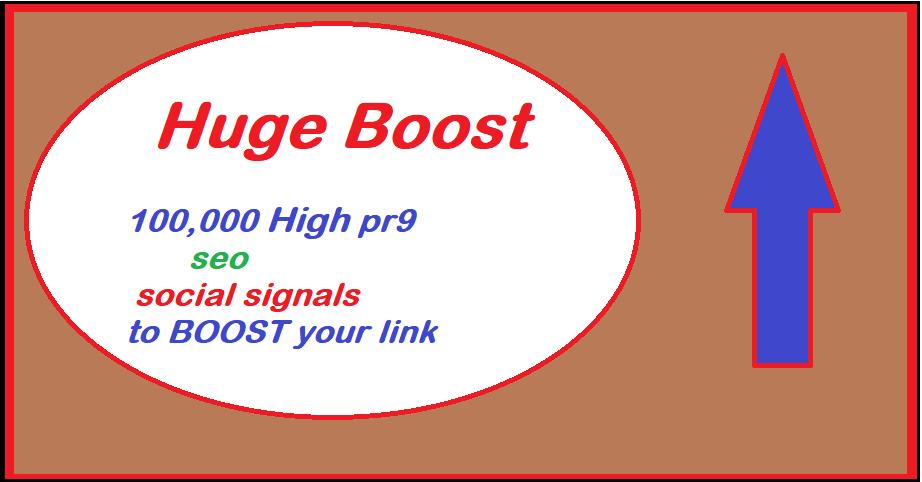 Huge boost 100,000 seo social signals bookmarks high pr9 backlinks