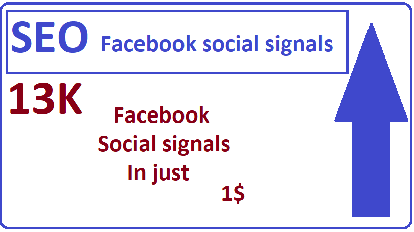 13,000+Facebook social signals high quality