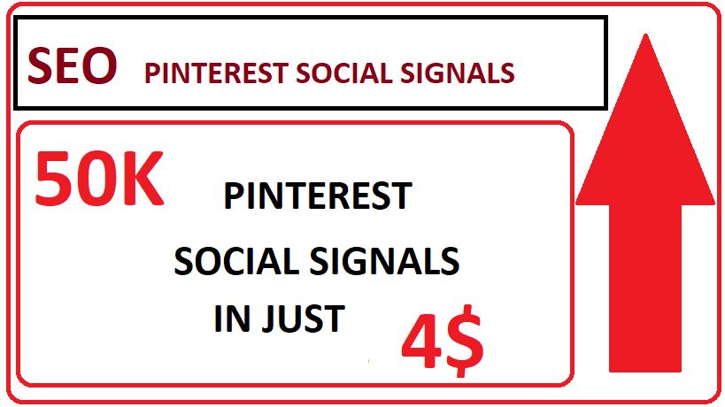50,000+ SEO Pinterest Social Signals High Quality