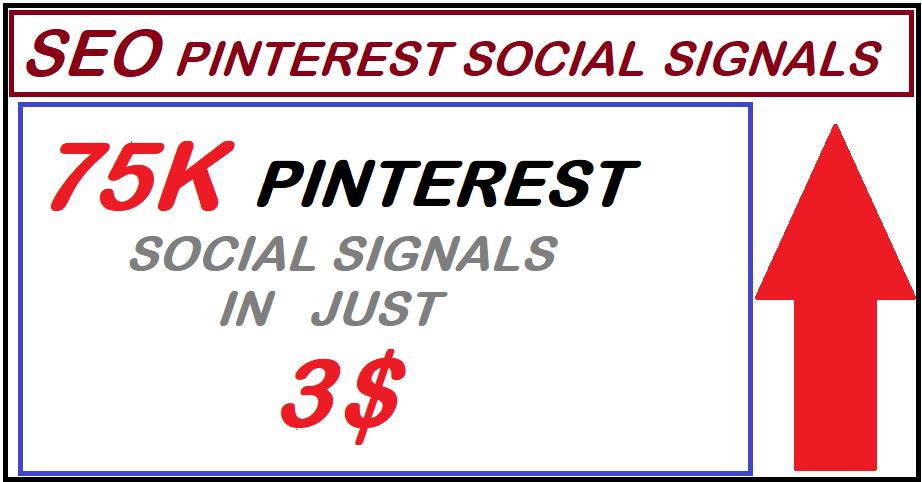 Super offer High PR9 75,000 pinterest seo social signals bookmarks