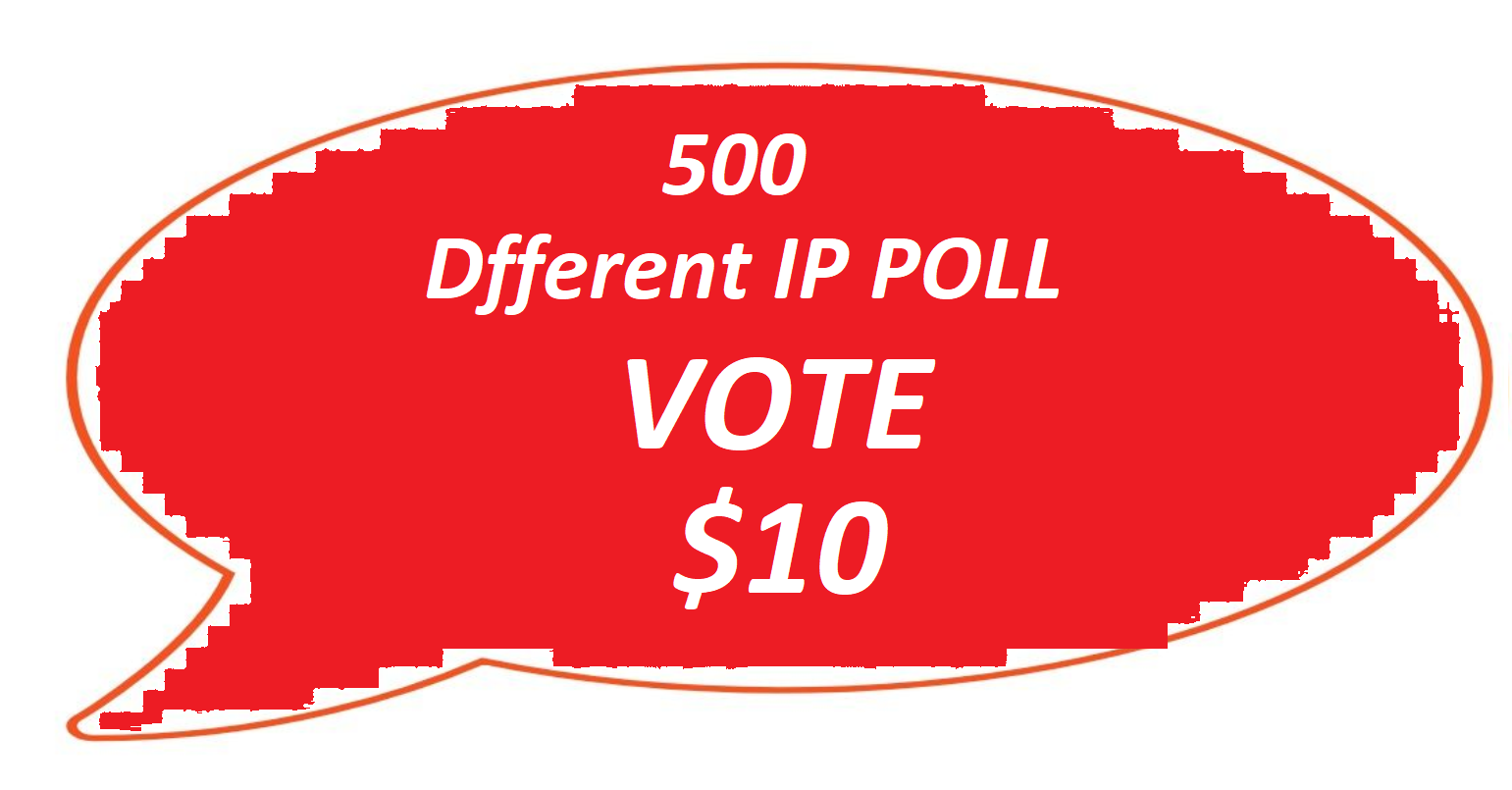 Improve 500 Different IP Votes For Your Online Contest Poll
