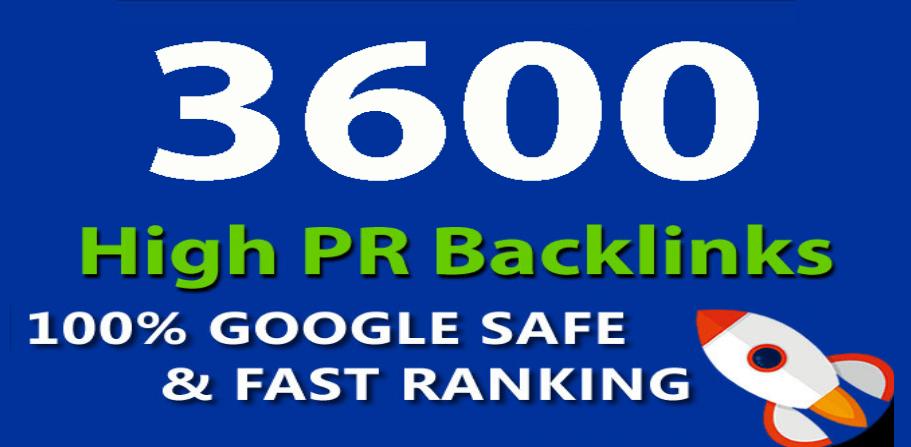 Provide 3600 High PR Do follow Backlinks