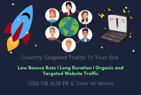 I will send geo location country targeted traffic to your site