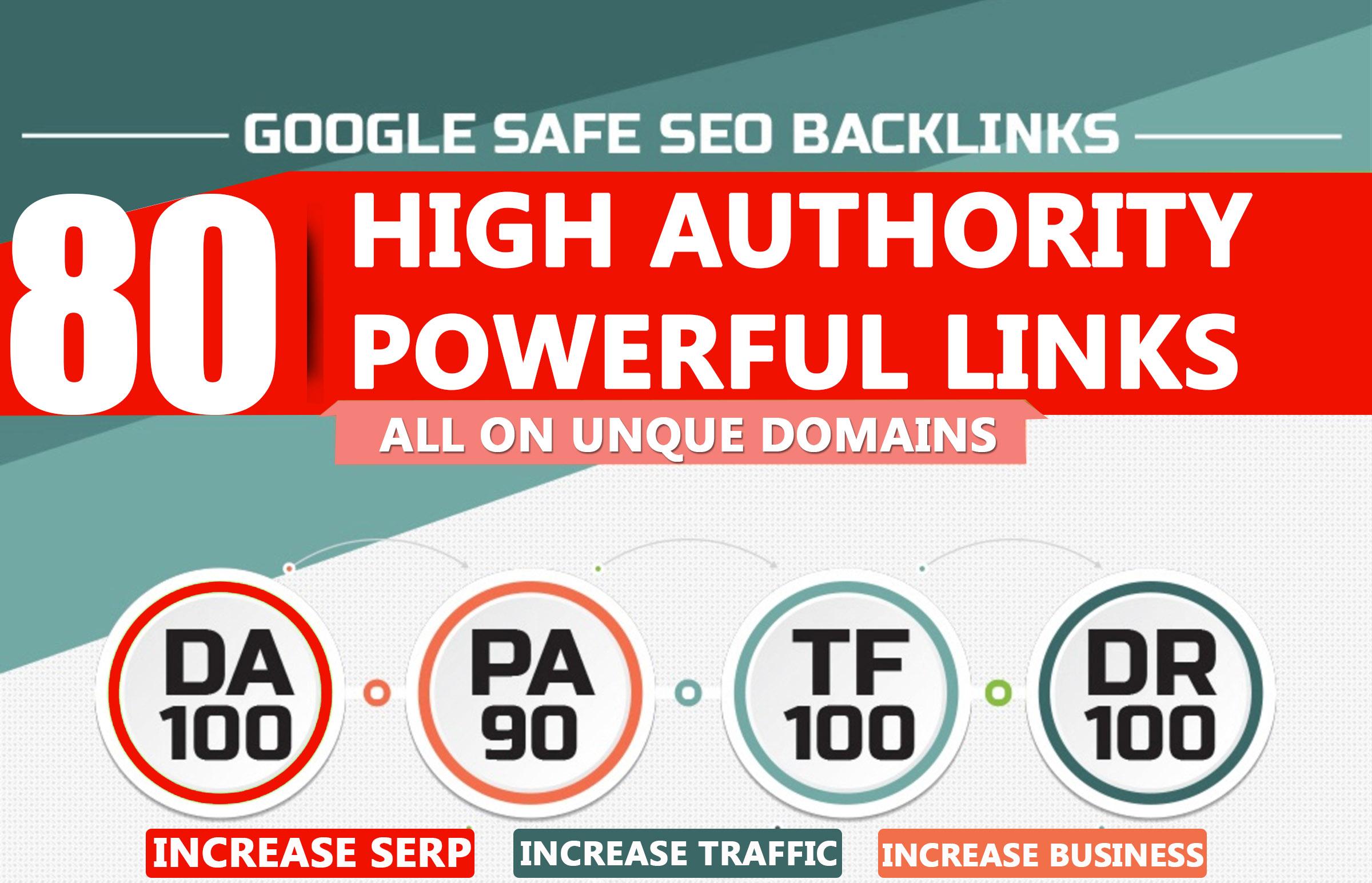 High Authority Powerful DA 80+ PREMIUM Backlinks