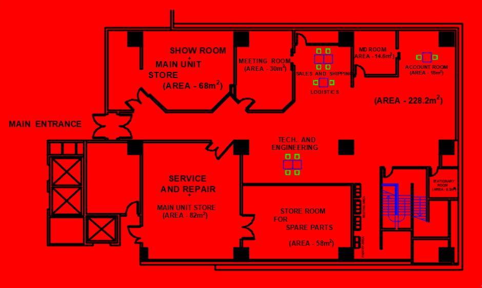 I will design your office floor plan
