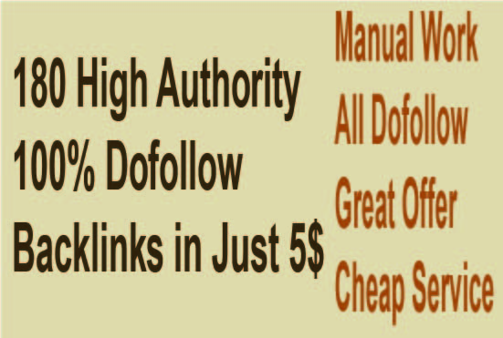 I will submit 180 high auhority dofollow backlinks