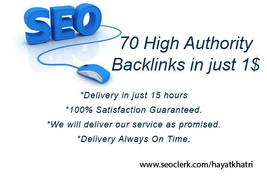 I will create 70 High authority dofollow backlinks in just one day