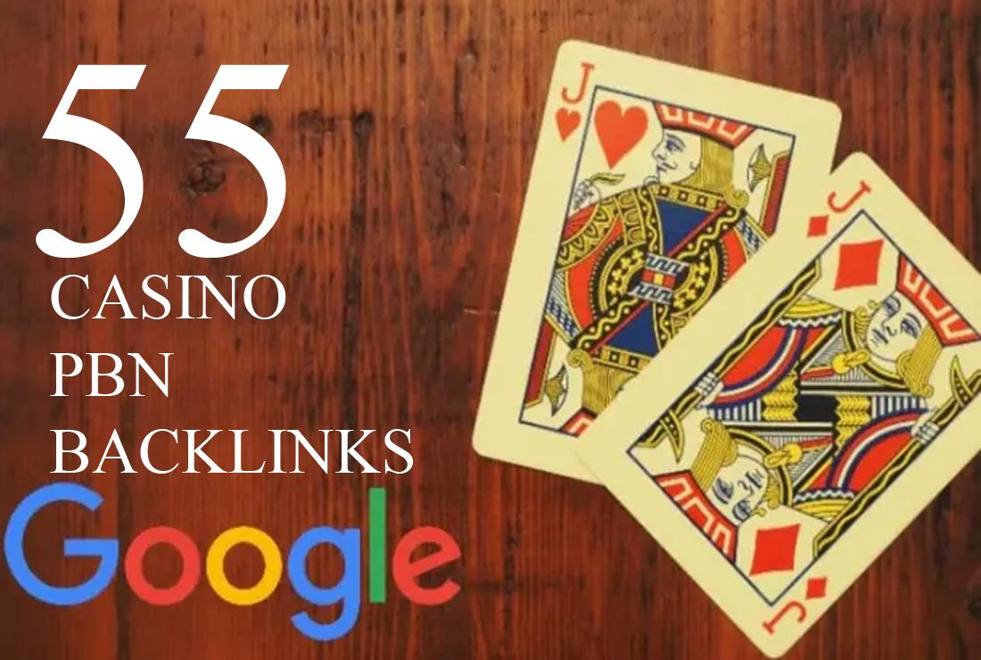 do 55 casino gambling poker pbn backlinks High quality PA DA TF CF links
