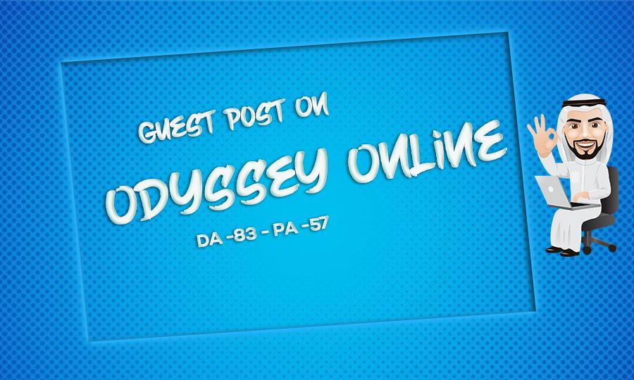 I will a guestblog on theodysseyonline dofollow Backlink