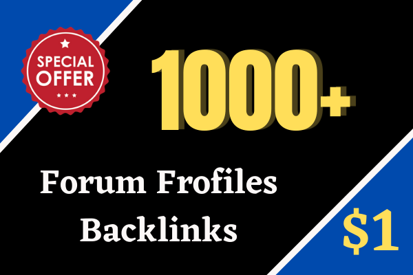 Create 1000 TIER-2 High Quality Forum Profiles Backlinks for Link Pyramid SEO Strategy