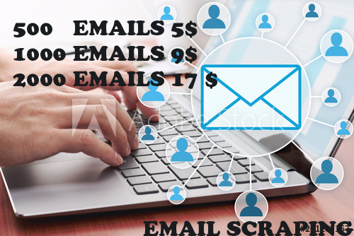 I will collect 500 emails for your business marketing
