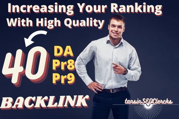 Build 40 High Quality Backlinks For Rank website