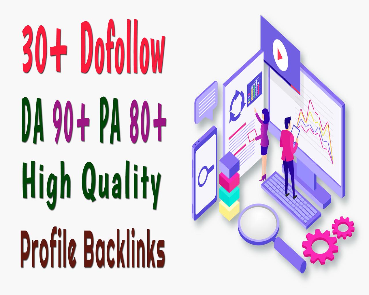Manually Do 30 Dofollow High Quality Seo Pr9 Profiles Backlinks