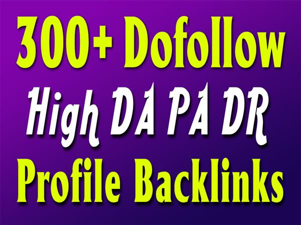 300+ dofollow high quality seo pr9 profile backlinks