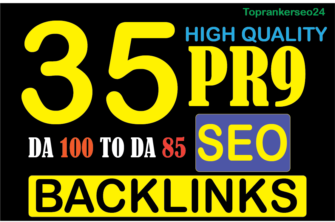 l will do create manually 35 pr9 top 80 + DA trusted authority seo backlinks for your website