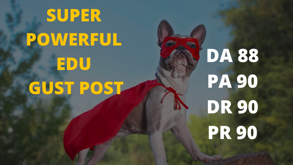 Get a super powerful EDU guest backlink for your site
