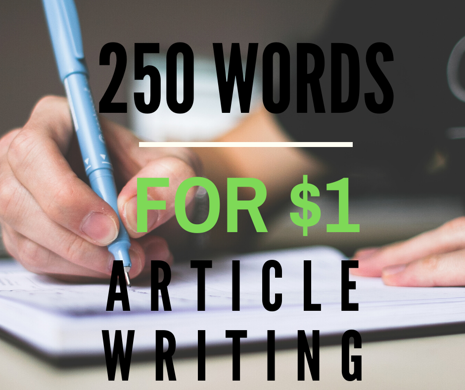 Experienced Writer Will Write A 250-Word Article For You