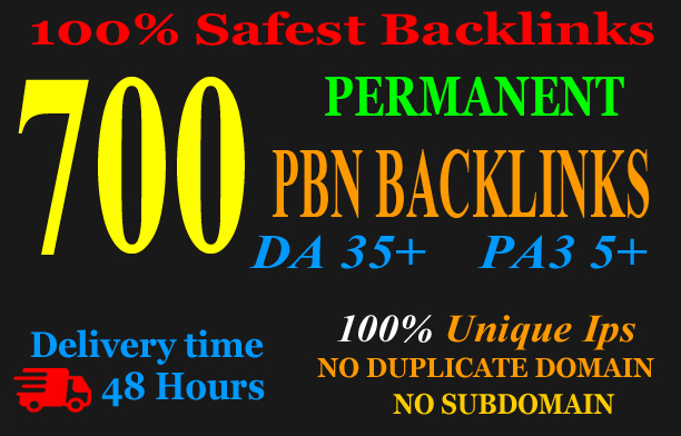 Build 700+Web2.0 PBN Backlink in your website hompage with HIGH DA/PA/TF/CF with unique website