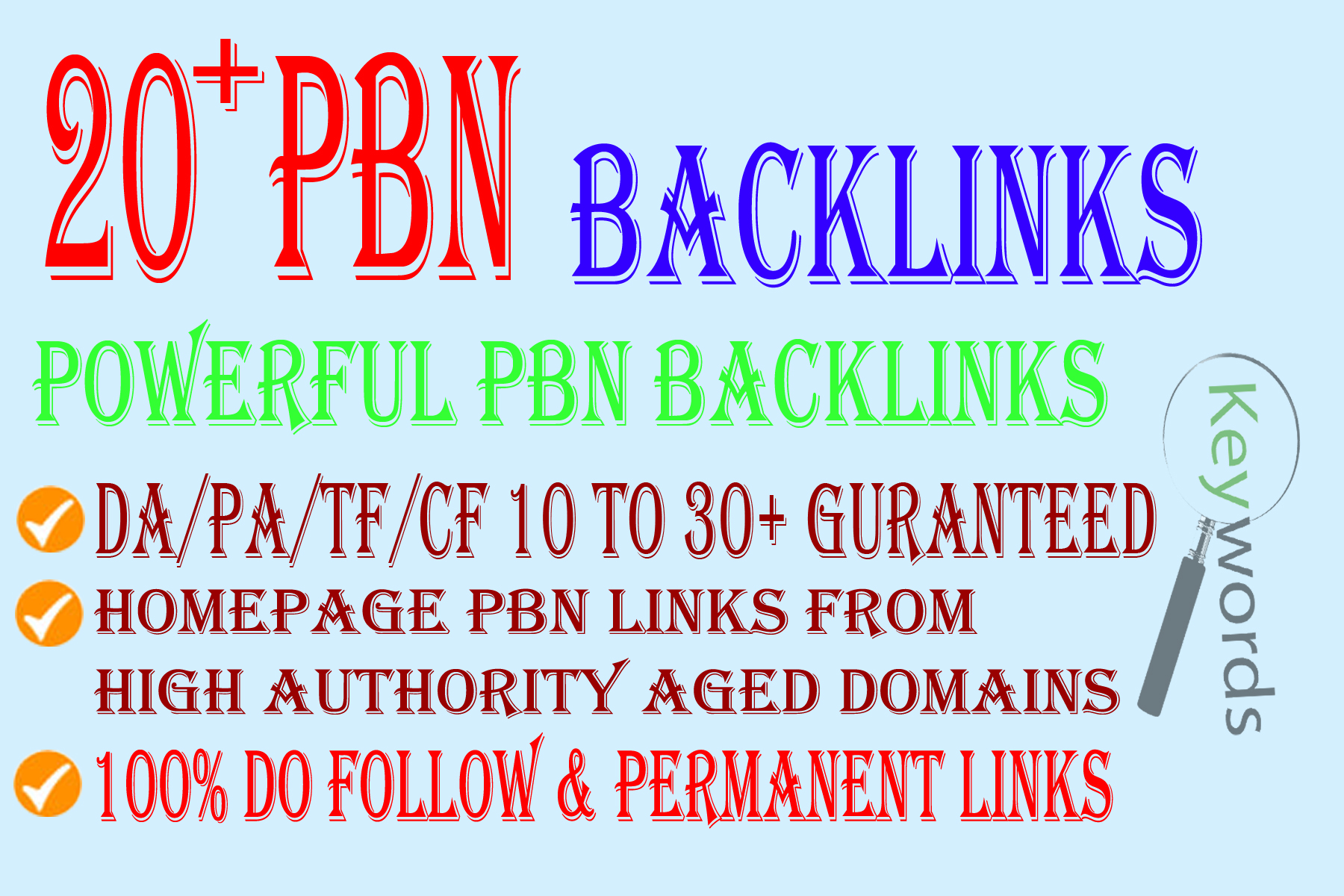 Build 20+ Backlink with with High DA/PA/TF/CF On your homepage with Unique websitelink