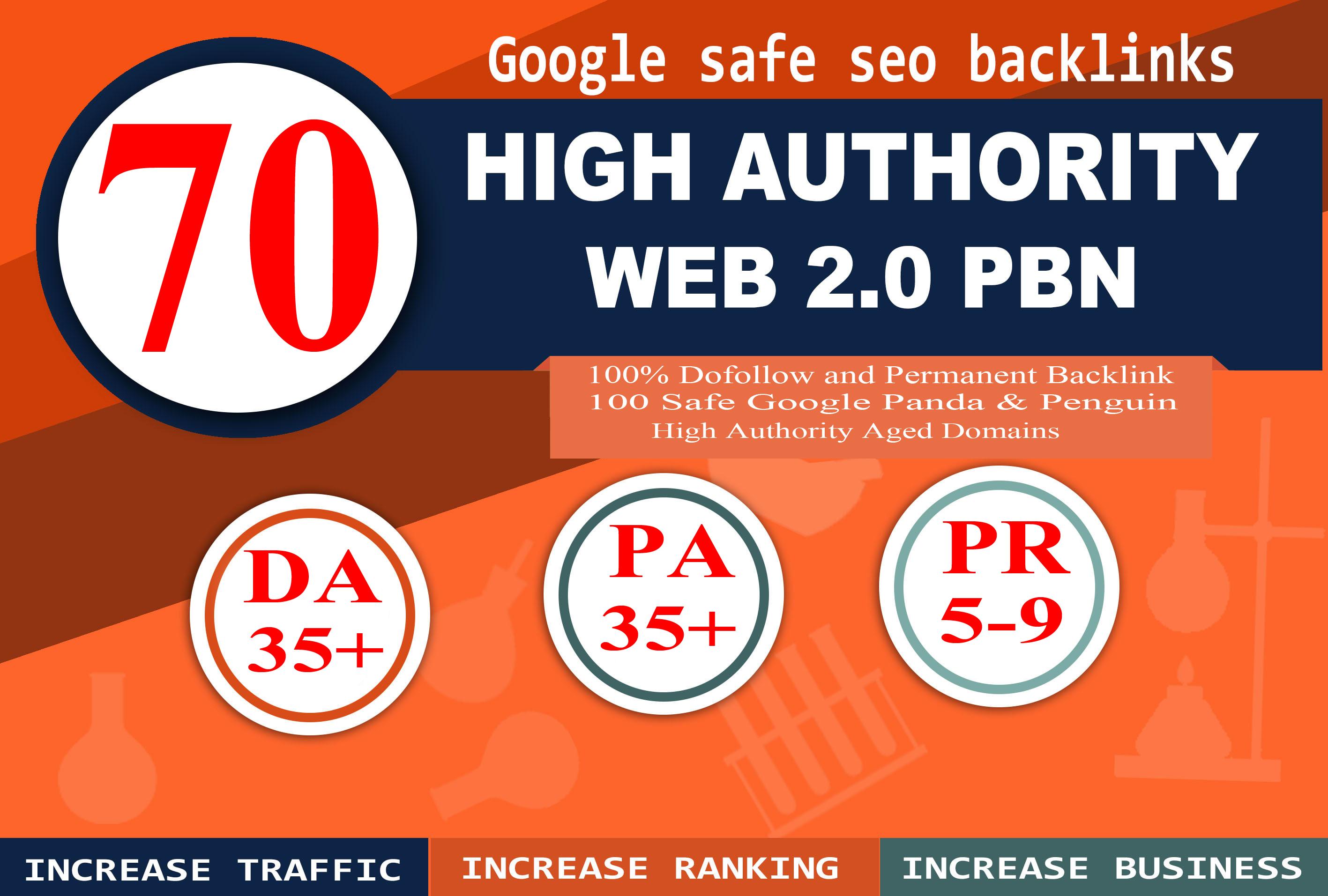 70+ Permanent PBN Backlinks Web2.0 With High TF CF DA PA Do-follow Links Homepage Unique website