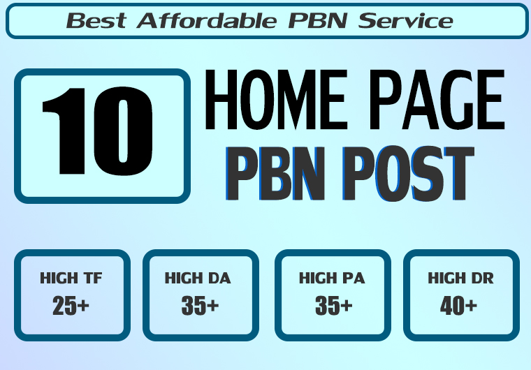 Homepage 10 PBN High 25 Plus DA PA CF TF Moz Authority Expired domain Backlinks