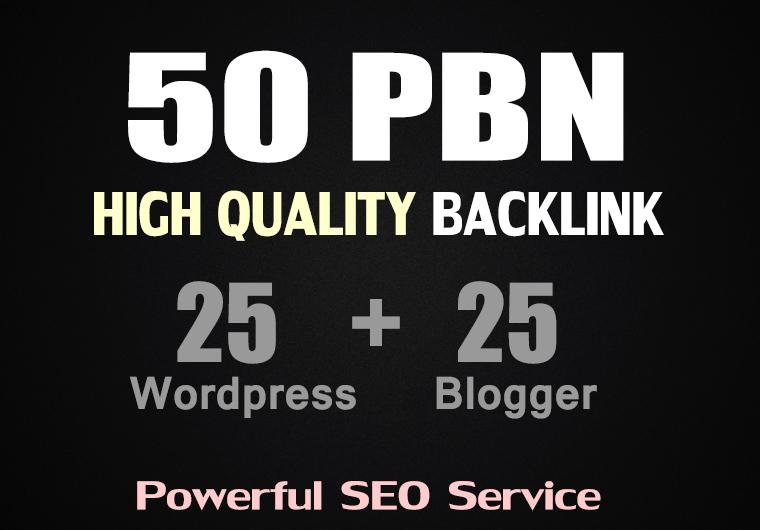 50 PBN POSTs Blogger and WordPress 80+ High DA to Rank Fast